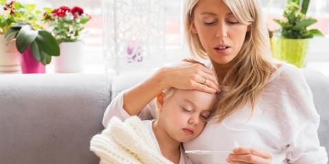 Mutter mit kranker Tochter