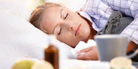 Eine kranke Frau schläft