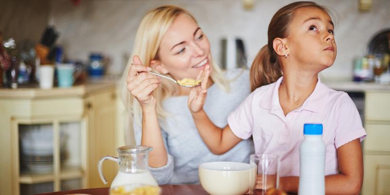 Mädchen will nicht essen