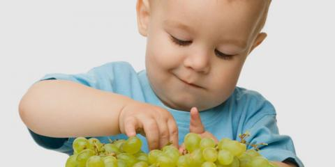 An Trauben können Kleinkinder ersticken