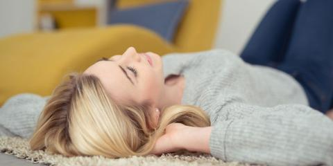 Lärmschutz lindert Stress Frau Entspannung