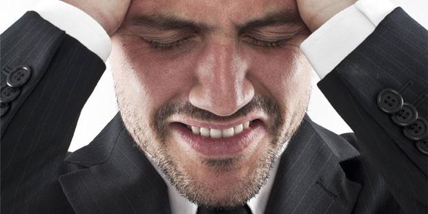 Mann mit Burnout