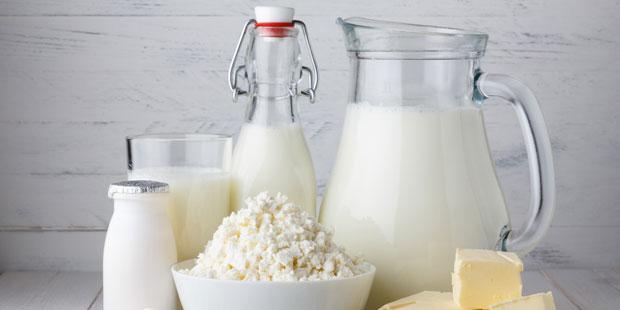 Milchprodukte enthalten Vitamin B2