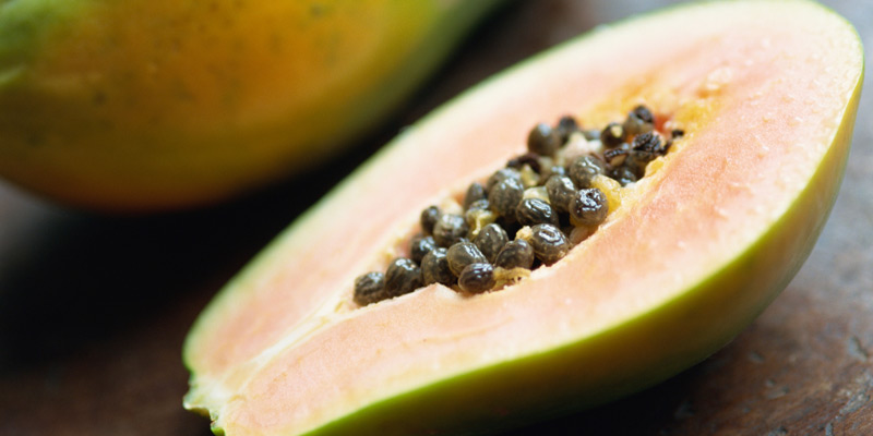 Papaya enthält wenig Fruchtzucker