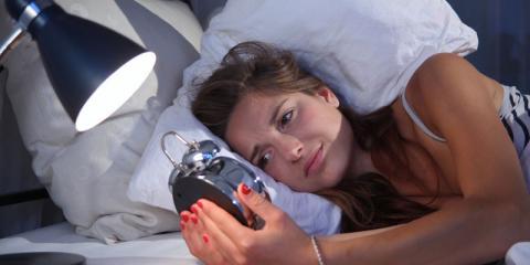 Frau mit Schlafproblemen