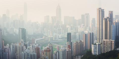 Eine Stadt im Nebel
